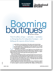 Institutional Investor: Booming Boutiques