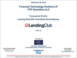 LendingClub IPO: Post Quiet Period Review