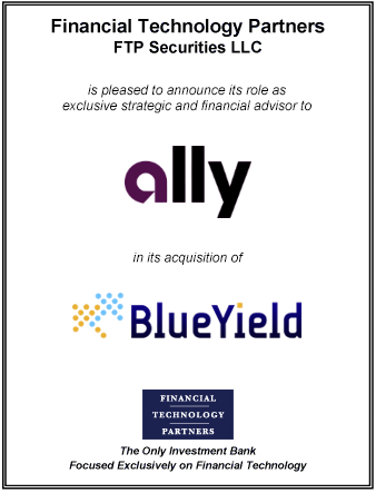FT Partners Advises Ally on its Acquisition of BlueYield