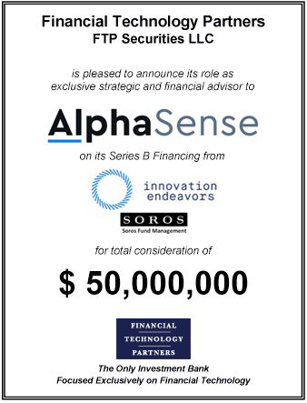 FT Partners Advises AlphaSense on its $50,000,000 Series B Financing Round