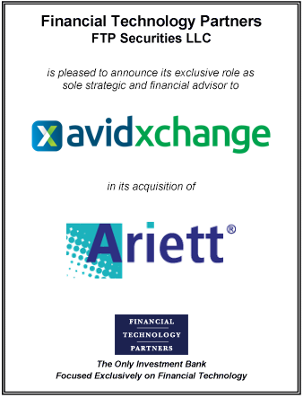 FT Partners Advises AvidXchange on its Acquisition of Ariett
