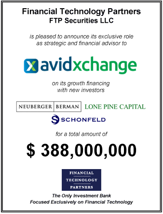 FT Partners Advises AvidXchange on its $388 million Growth Financing