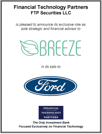 FT Partners Advises Breeze on its Sale to Ford