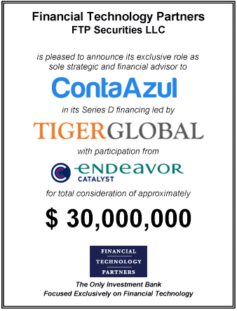 FT Partners Advises ContaAzul on its $30,000,000 Financing Led by Tiger Global