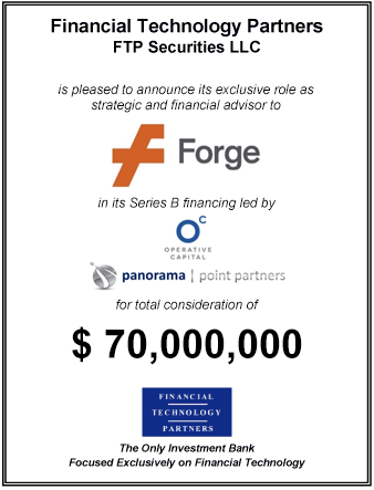 FT Partners Advises Equidate on its $50,000,000 Series B Financing