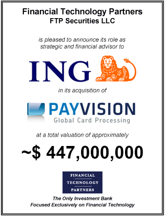 FT Partners Advises ING on its Acquisition of Payvision