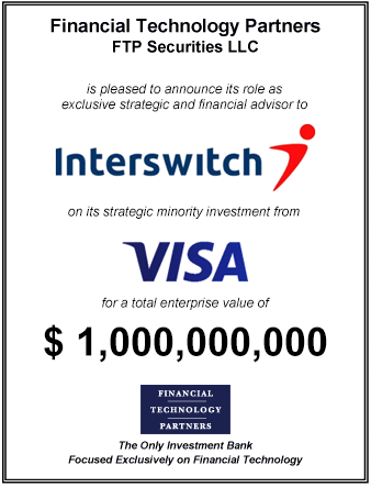 FT Partners Advises Interswitch on its Strategic Investment from Visa