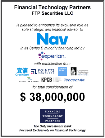 FT Partners Advises Nav on its $38,000,000 Minority Series B Financing