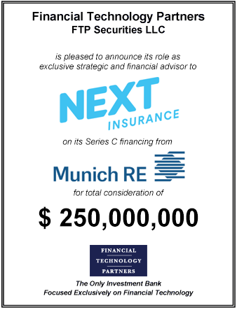 FT Partners Advises Next Insurance on its $250,000,000 Series C Financing from Munich Re