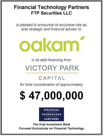 FT Partners Advises Oakam on its ~$47,000,000 Financing from Victory Park Capital
