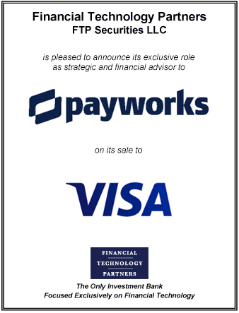 FT Partners Advises Payworks on its Sale to Visa