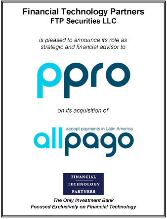 FT Partners Advises PPRO on its Acquisition of allpago