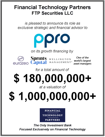 FT Partners Advises PPRO on its $180,000,000 Growth Financing