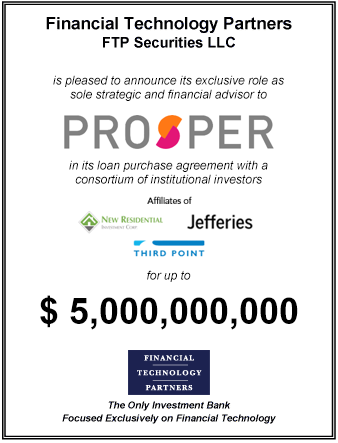 FT Partners Advises Prosper in its $5,000,000,000 Loan Purchase Agreement