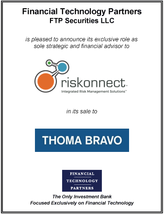 FT Partners Advises Riskonnect on its Sale to Thoma Bravo