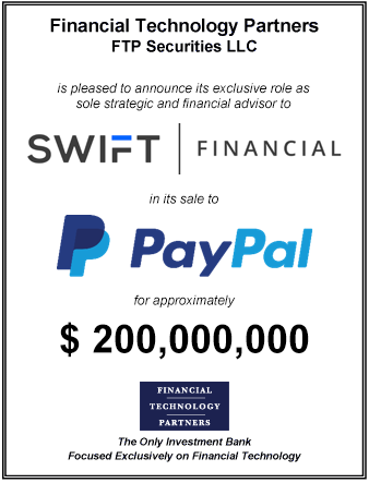 FT Partners Advises Swift Financial on its Sale to PayPal