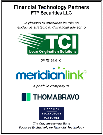 FT Partners Advises TCI on its Sale to MeridianLink
