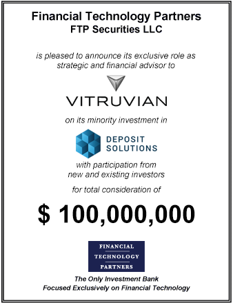 FT Partners Advises Vitruvian on its Investment in Deposit Solutions