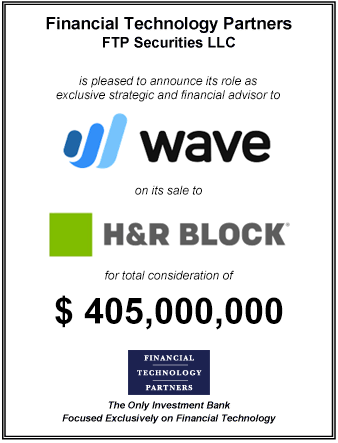 FT Partners Advises Wave on its $405,000,000 Sale to H&R Block