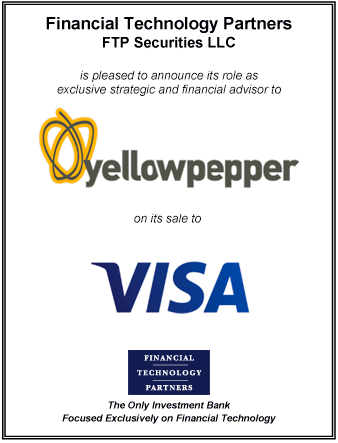 FT Partners Advises YellowPepper on its Sale to Visa
